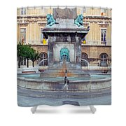 Fountain In Arles France Shower Curtain