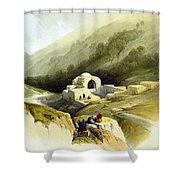 Fountain Of Job Valley Of Hinnom Shower Curtain