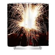 Fountain Of Sparks Shower Curtain