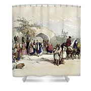Fountain Of The Virgin Nazareth Shower Curtain