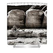 Four Boulders Shower Curtain