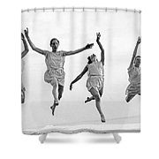 Four Dancers Leaping Shower Curtain