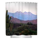 Four Peaks Shower Curtain