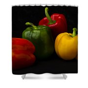 Four Peppers Shower Curtain