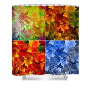 Four Seasons In Abstract Shower Curtain