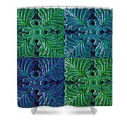 Four Times Four Vii Shower Curtain