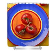 Four Tomatoes  Shower Curtain