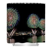 Fourt Of July In Nyc Shower Curtain by Susan Candelario