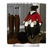 Fox Hunt Decorations Shower Curtain