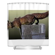 Fox On A Pedestal Shower Curtain