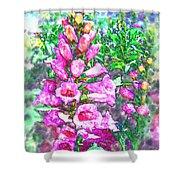 Foxglove Floral Shower Curtain
