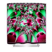 Fractal 12 Candycane Jester Shower Curtain