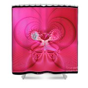 Fractal 30 Love Is In The Air Shower Curtain