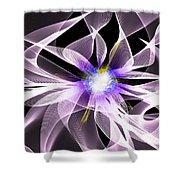 Fractal Flower . Dahlia Shower Curtain