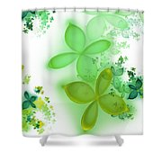 Fractal Spring Shower Curtain