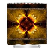 Fractal Triptych Shower Curtain