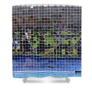 Fractured Image Shower Curtain