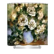 Fragrant Roses Shower Curtain