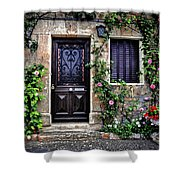 Framed In Flowers Dordogne France Shower Curtain