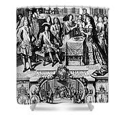 France: Baptism, 1704 Shower Curtain