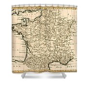France By Regions Shower Curtain