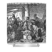 France: Custom House, 1854 Shower Curtain