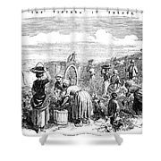 France: Grape Harvest, 1854 Shower Curtain