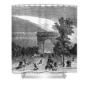 France: Meteor, 1868 Shower Curtain