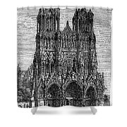France: Reims Cathedral Shower Curtain