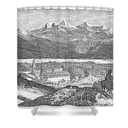 France: Spa, 1856 Shower Curtain