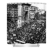 France: Strike, 1968 Shower Curtain