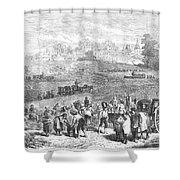 France: Wine Harvest, 1871 Shower Curtain