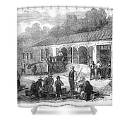 France: Winemaking, 1871 Shower Curtain by Granger