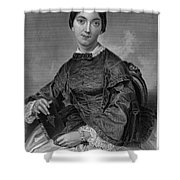 Frances Sargent Osgood (1811-1850). American Poet. Engraving From A Painting By Alonzo Chappel, C1873 Shower Curtain