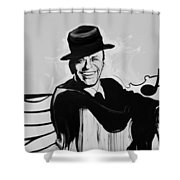 Frank In Black And White Shower Curtain