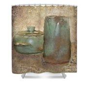 Frankhoma Pottery Shower Curtain
