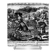 Franklin: Cartoon, 1764 Shower Curtain