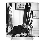Franklin D. Roosevelt, 32nd American Shower Curtain