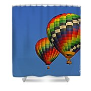 Fraternal Twin Balloons Shower Curtain