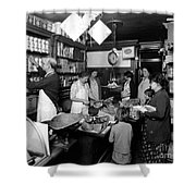 Fred Grovers Grocery Store Shower Curtain by Photo Researchers