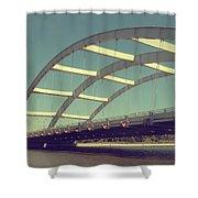 Freddie Sue Bridge Shower Curtain by Kristen Cavanaugh