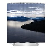 Frederick Sound Morning Shower Curtain by Mike Reid