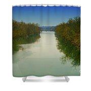 Fredericksburg Virginia River Shower Curtain
