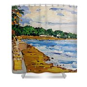 Frederiksted By The Pier Shower Curtain