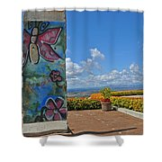 Free - The Berlin Wall Shower Curtain