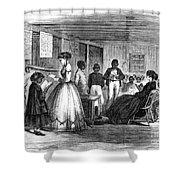 Freedmen School, 1866 Shower Curtain by Granger