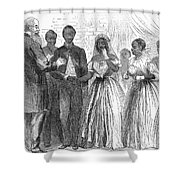 Freedmen: Wedding, 1866 Shower Curtain by Granger