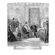 Freedmens Bureau, 1867 Shower Curtain