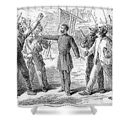 Freedmens Bureau, 1868 Shower Curtain