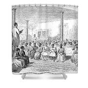 Freedmens School, 1866 Shower Curtain by Granger